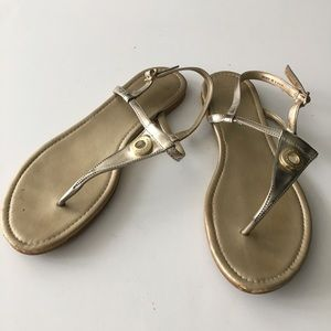 Cole Haan T-Strap Leather Thong Sandals Size 9B